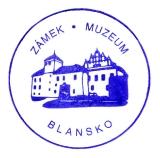Turistické razítko - Zámek - muzeum Blansko