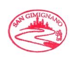 Turistické razítko - San Gimignano (Itálie)